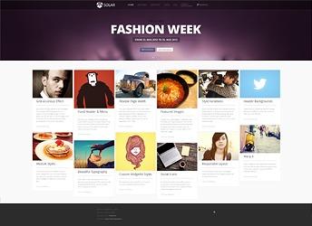 WordPress website template yoo_solar