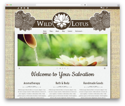 WP template Enfinity by Pixedelic - wildlotusnaturals.com