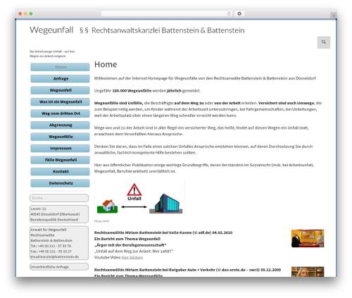 WP template Twenty Fourteen - wegeunfall.de
