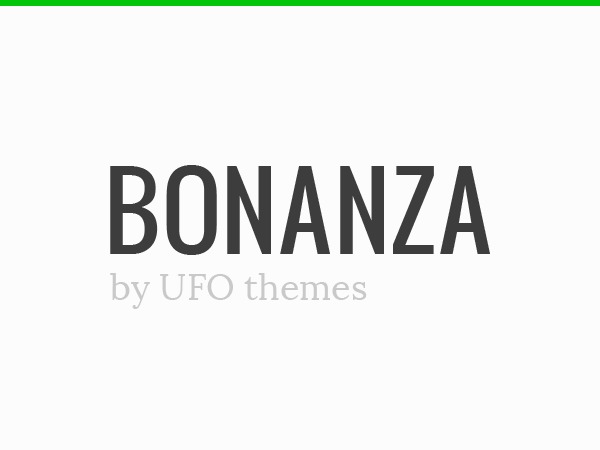 WP theme Bonanza