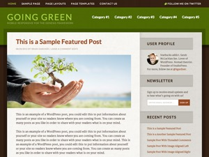 WP theme Going Green Child Theme