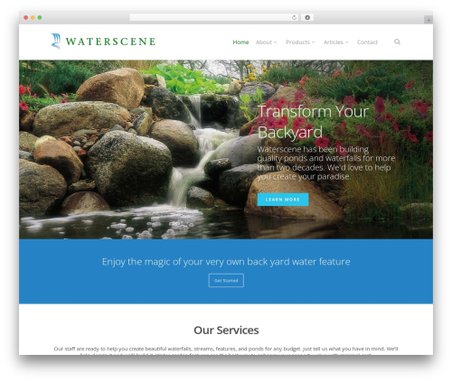 WP theme Salient - waterscene.ca