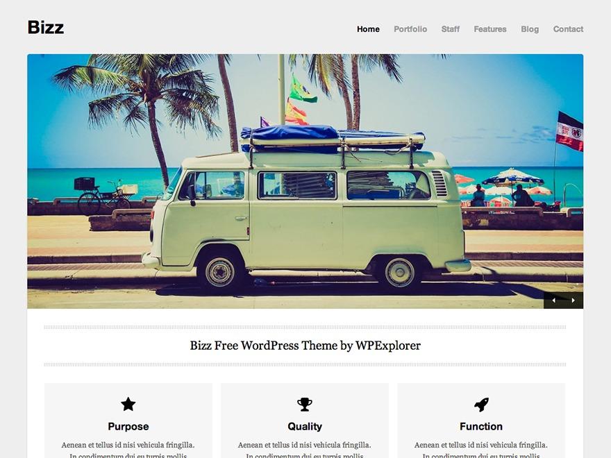 WPEX Bizz WP template