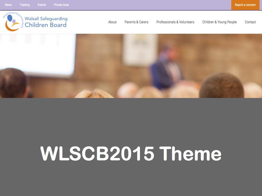 wscb2015 WordPress page template