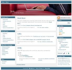 Xeiro WordPress blog theme