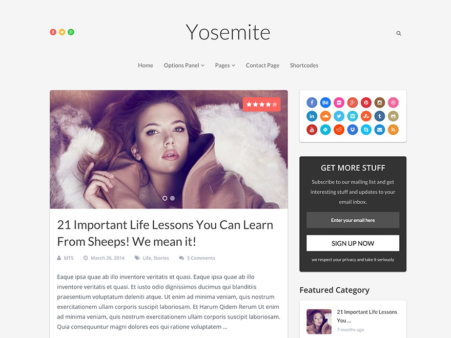 Yosemite by MyThemeShop WordPress shop theme