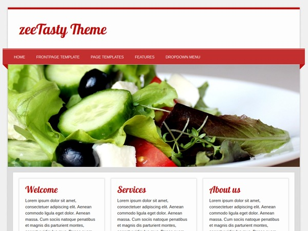 zeeTasty company WordPress theme