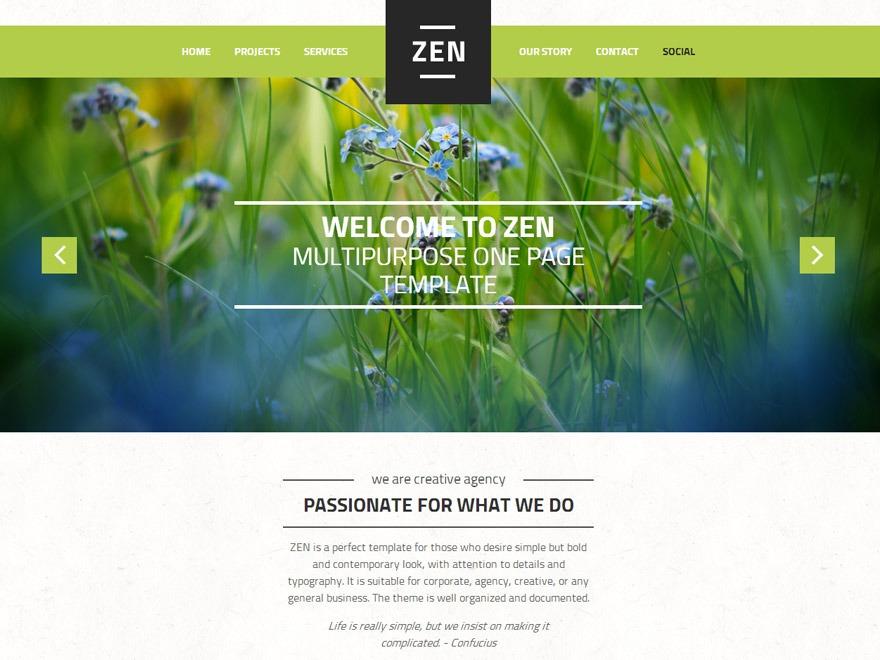 ZEN best portfolio WordPress theme