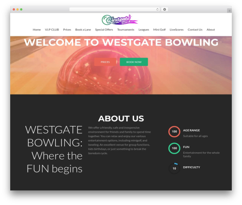 Zerif Lite template WordPress free - westgatebowling.co.nz