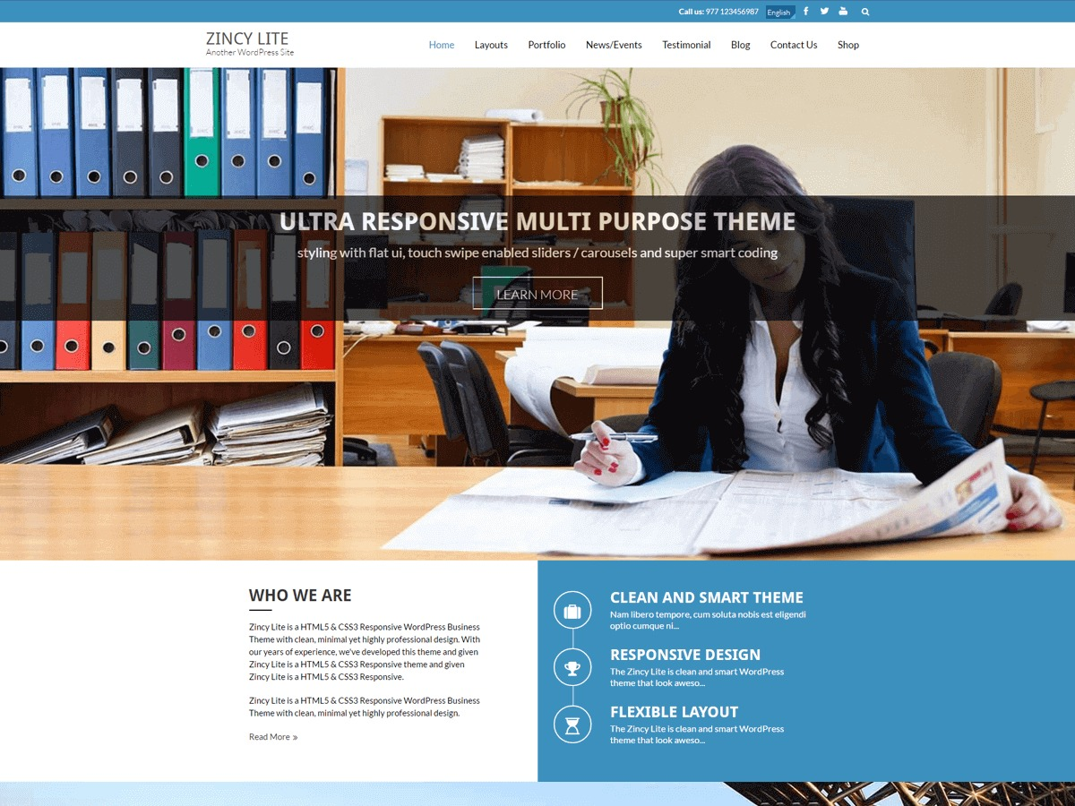 Zincy Lite WordPress ecommerce theme
