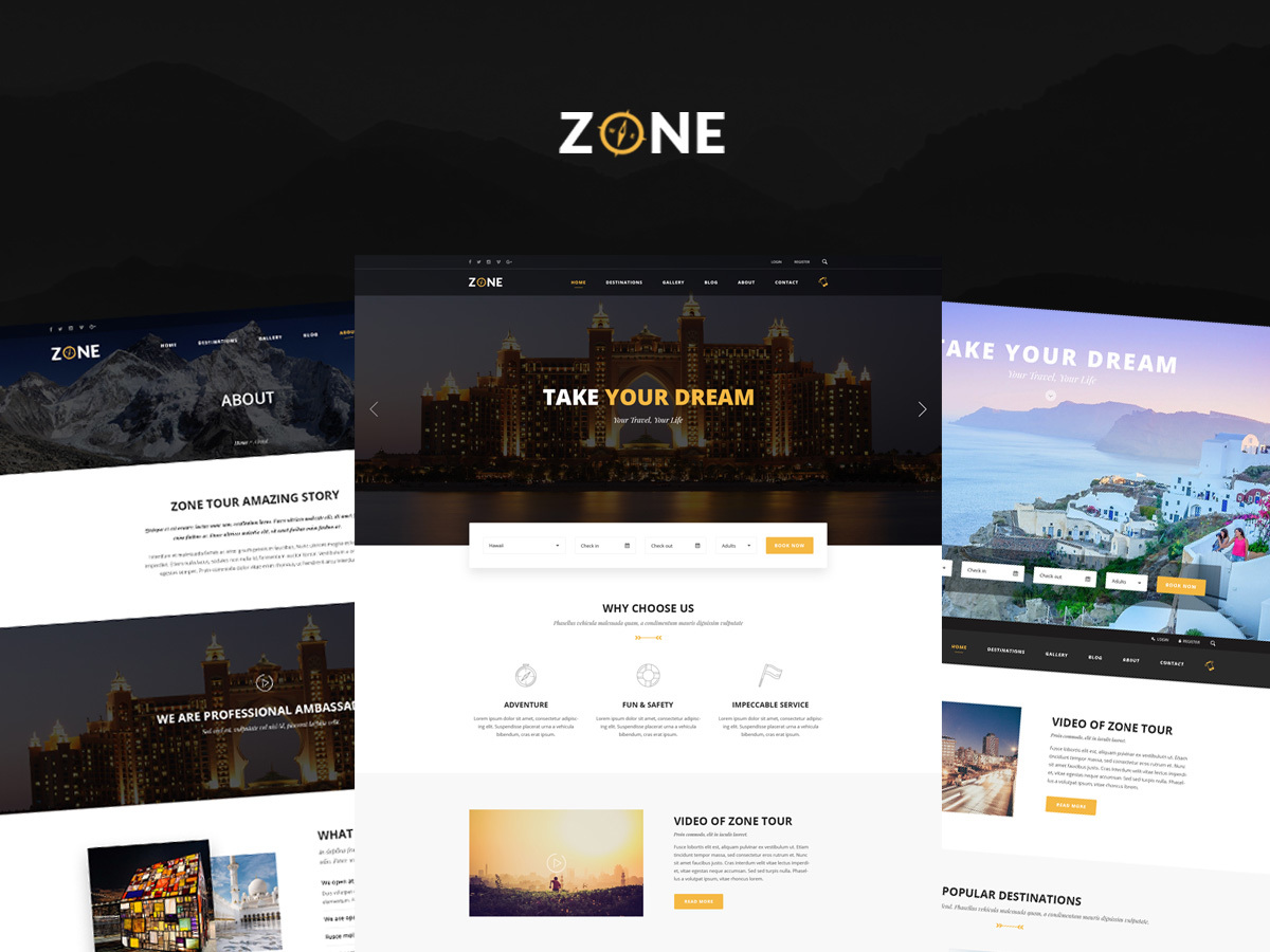 Zone WordPress blog template