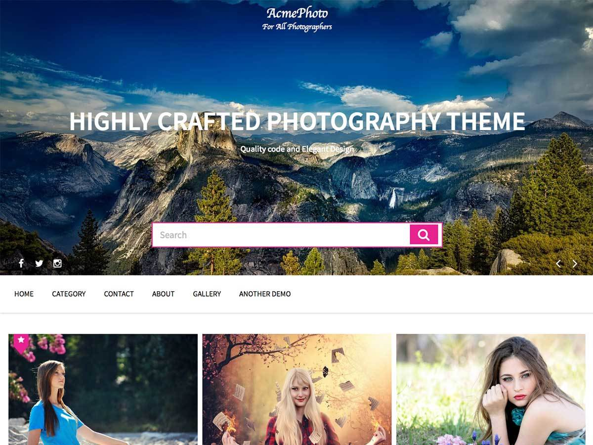 AcmePhoto WordPress theme image