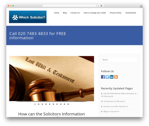 Appointment free WP theme - whichsolicitor.info