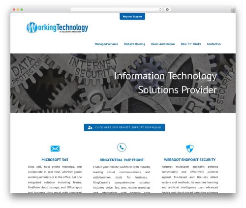 Ascension theme WordPress - working-technology.com