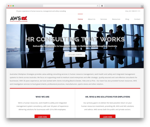 Avada best WordPress template - workplacestrategies.com.au