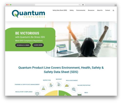Avada company WordPress theme - usequantum.com