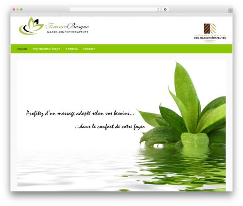 Beautiful WordPress theme - francebasque.ca