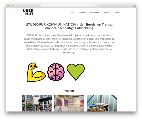 Best WordPress theme Jupiter - ubermut.de