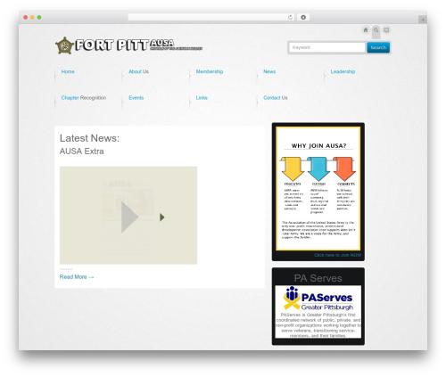 Business Design Theme WordPress page template - fortpittausa.org