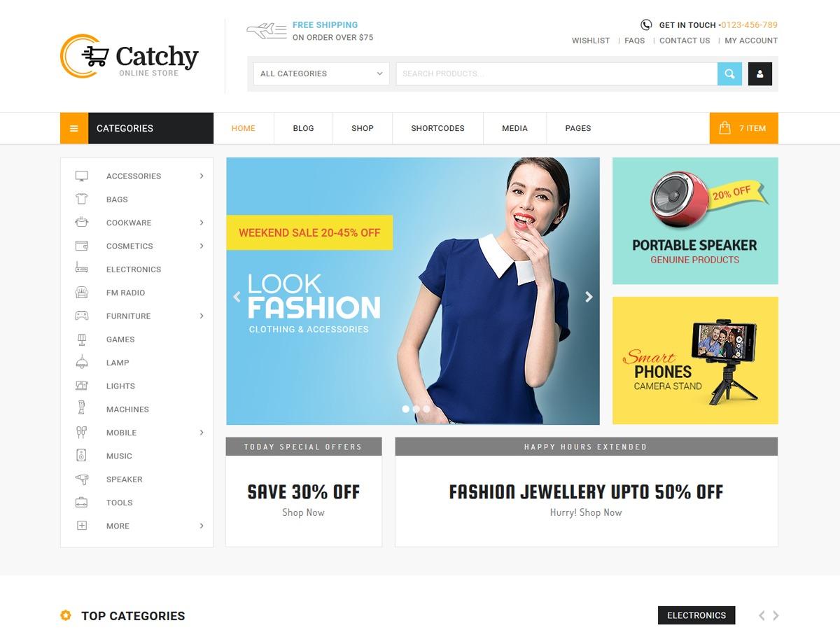 Catchy WordPress theme design