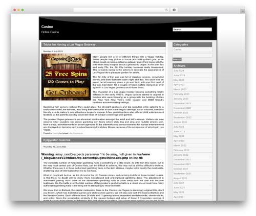 cbOne WordPress template - freeradiocasino.com