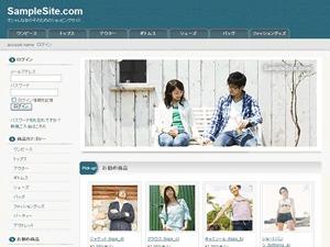 Cloth 2 Columns (Blue) top WordPress theme