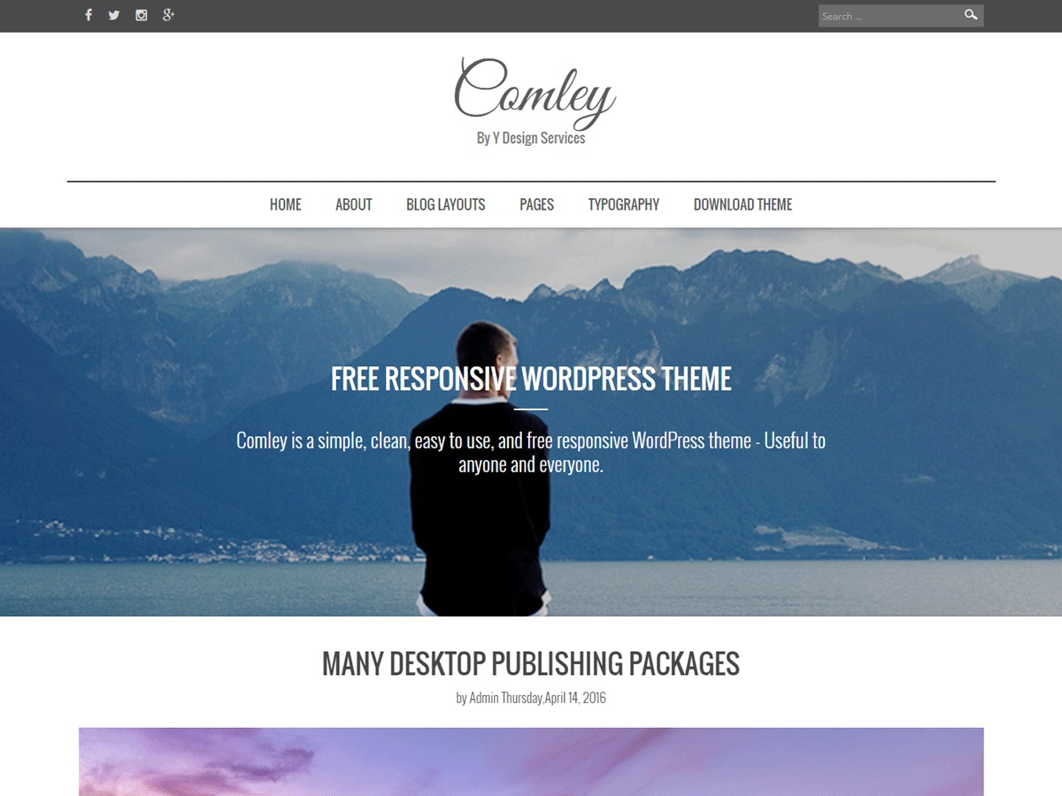 Comley theme WordPress free