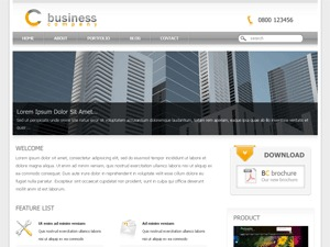 Corporate Business theme WordPress portfolio