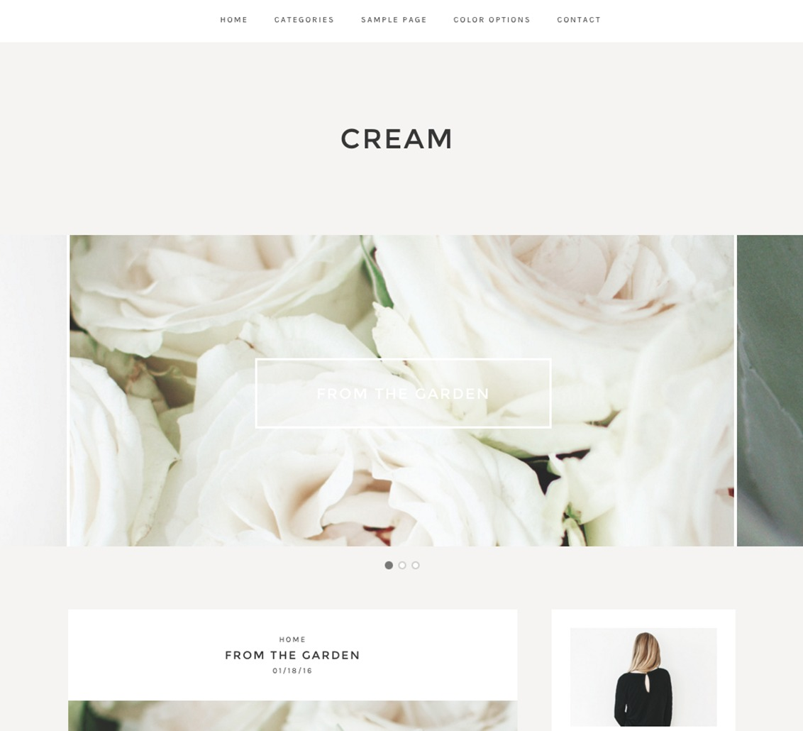 Cream WordPress video template