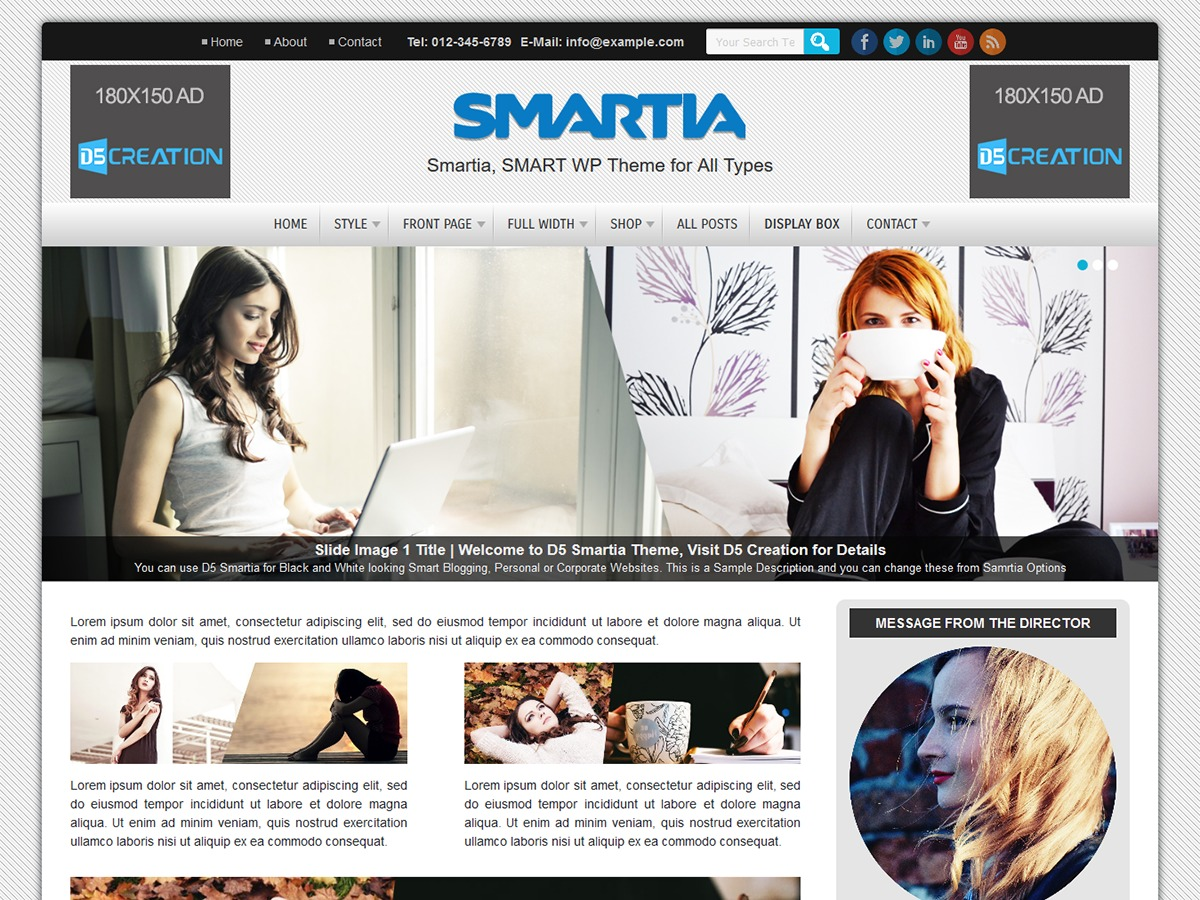 D5 Smartia theme free download