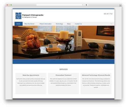 Discovery template WordPress free - fairportchiropractic.com