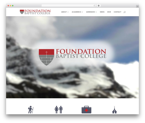 Divi WP template - foundationbaptistcollege.com