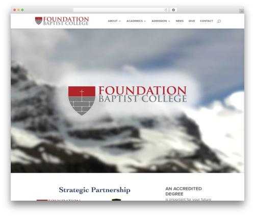Free WordPress CryptX plugin - foundationbaptistcollege.com