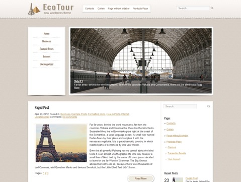 EcoTour template WordPress
