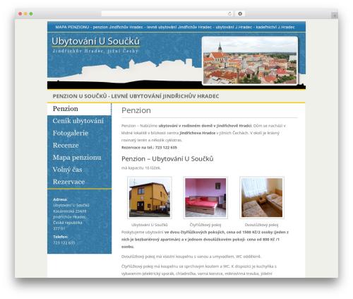 eNews newspaper WordPress theme - ubytovaniusoucku.cz
