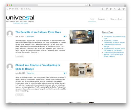 Envision WordPress blog theme - uakc.com/blog