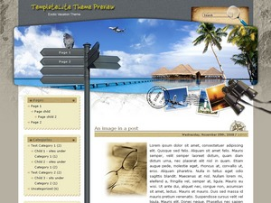 Exotic Vacation top WordPress theme
