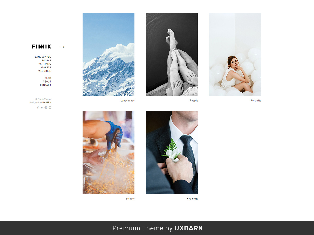 Finnik photography WordPress theme