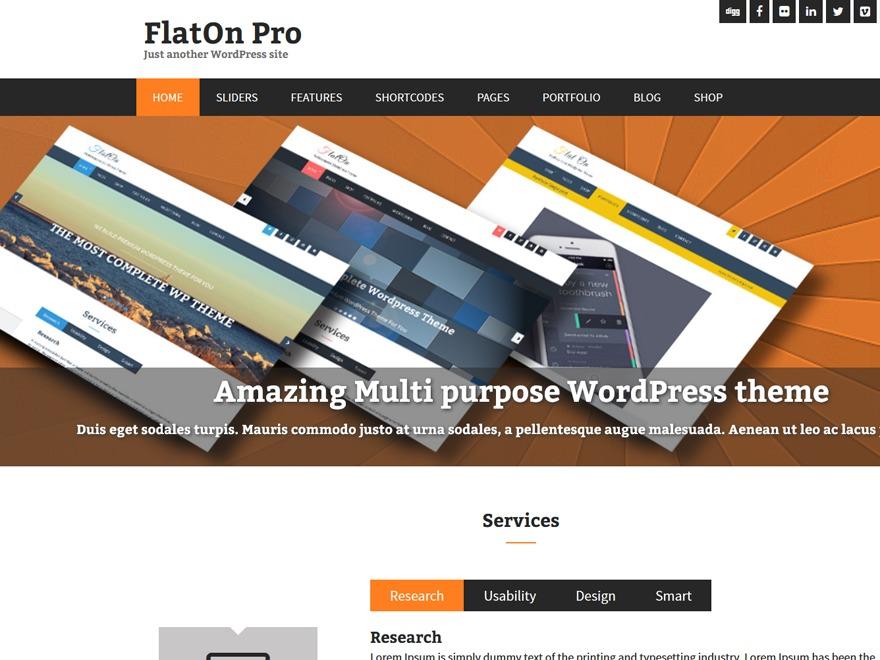 FlatOnPro Child WordPress theme