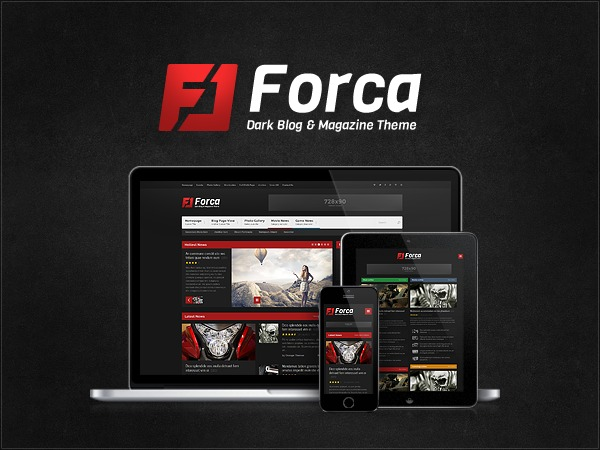 Forca Premium Theme WP template
