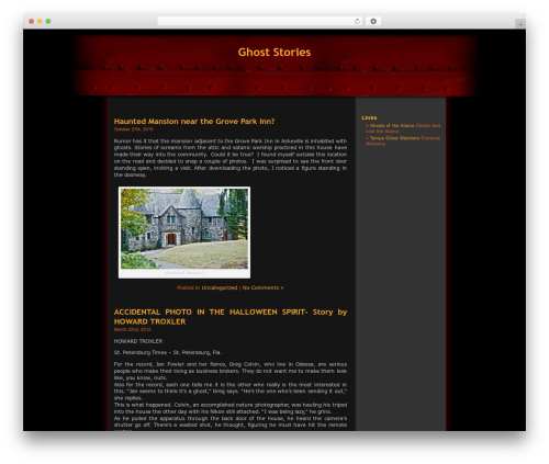 Halloween theme WordPress - freeghoststory.com