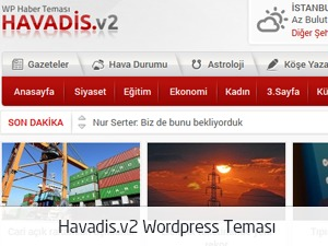 Havadis Wordpress Teması v2 WordPress page template