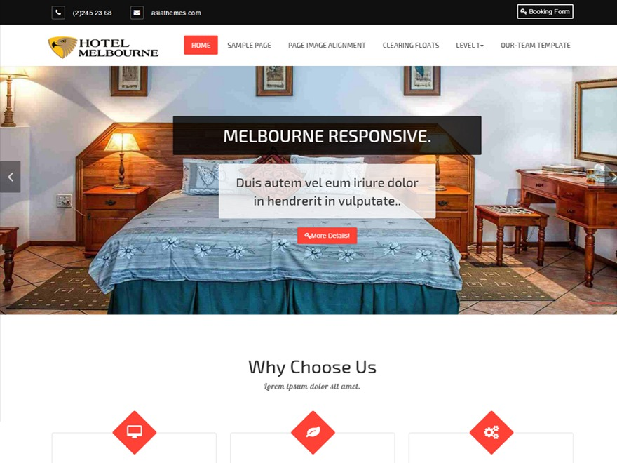 Hotel-Melbourne free WP theme