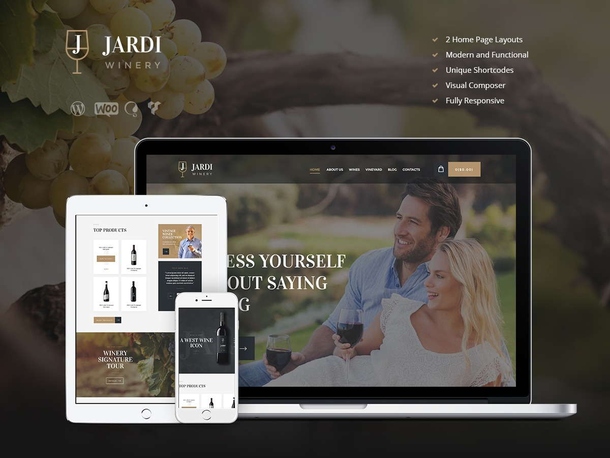 JardiWinery WordPress theme
