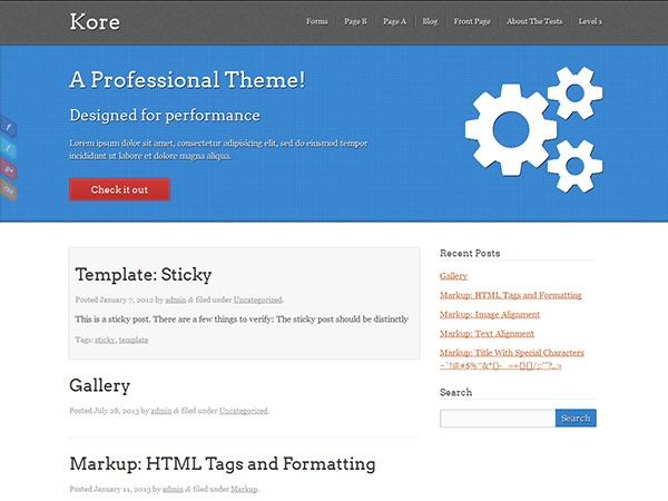 Kore best WordPress template