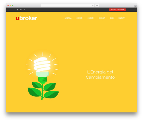 Layers WordPress theme - ubroker.it