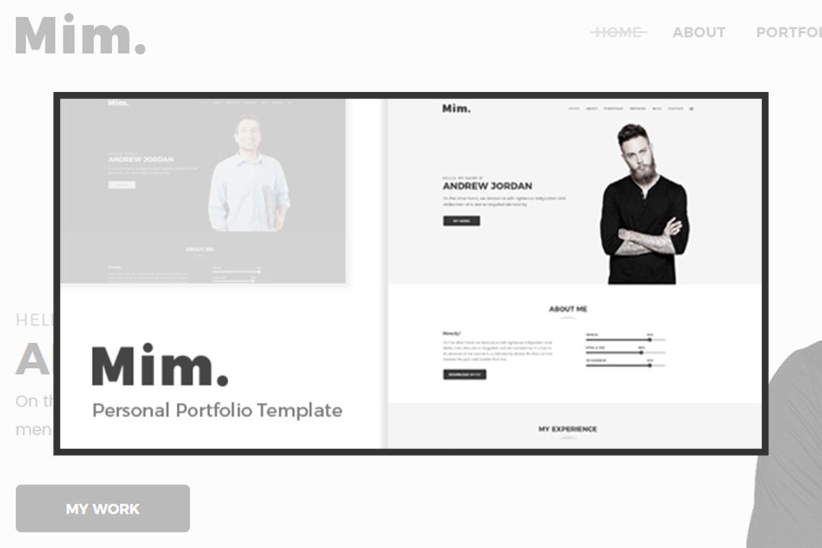 Mim personal WordPress theme