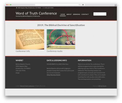 Morgan WordPress template - wordoftruthconference.com