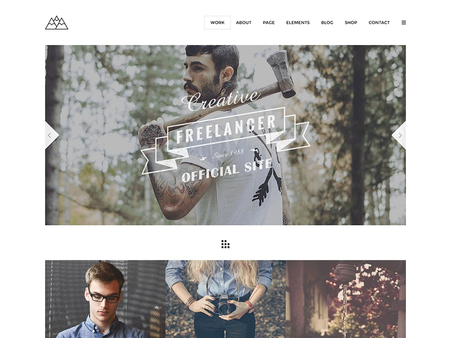 Mountain Child WordPress page template