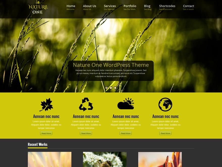 Nature One Pro WordPress theme image